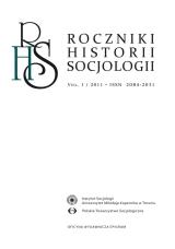 Roczniki Historii Socjologii Vol. I / 2011